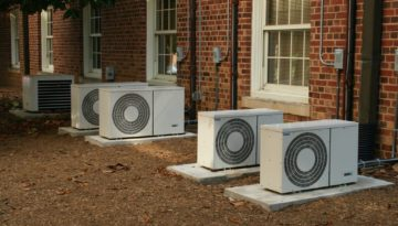 air source heating installation
